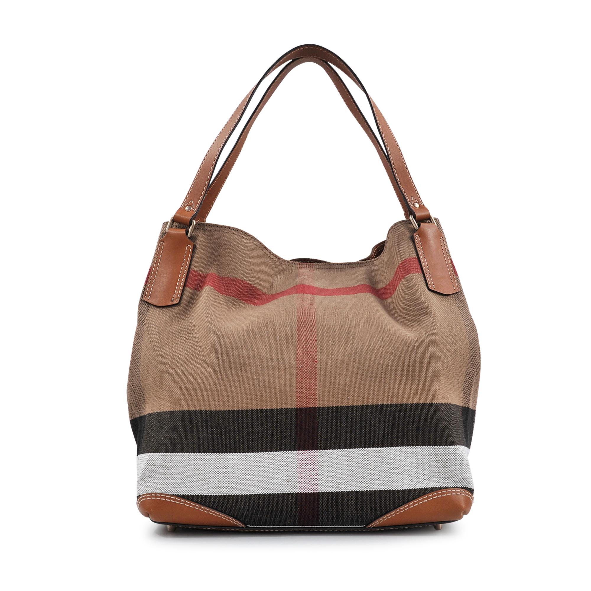 6ef9b750b Burberry Sm Maidstone Brit Canvas Bag in Brown - Lyst