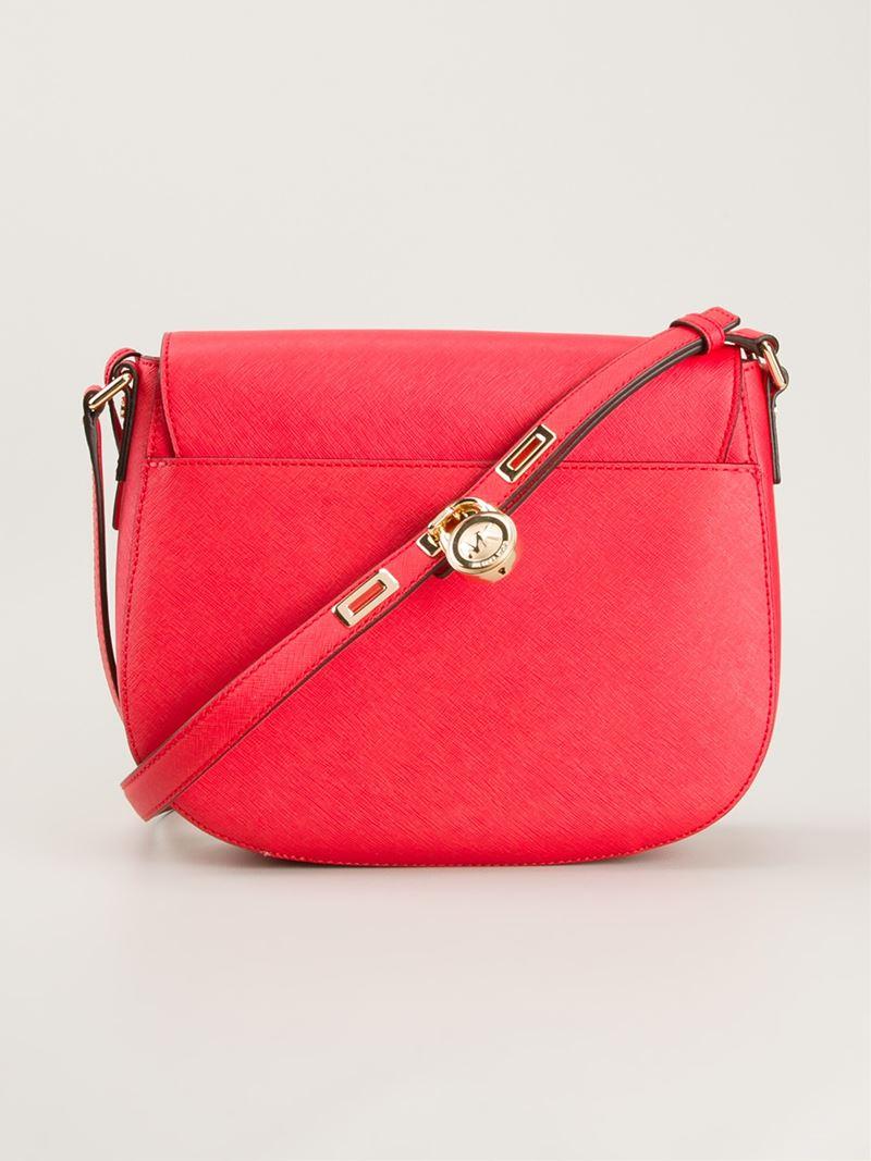d89179ea5706 ... Purse HandBag Leather Retail 398 Michael Kors Navy Bag Lyst - Michael  Michael Kors Large Hamilton Messenger Bag in ...