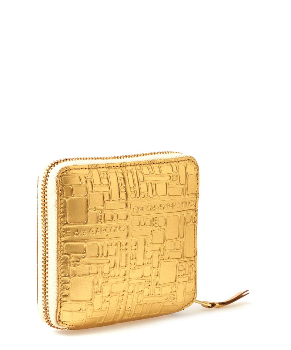 embossed logo purse - Metallic Comme Des Gar?ons n35gFXXYq