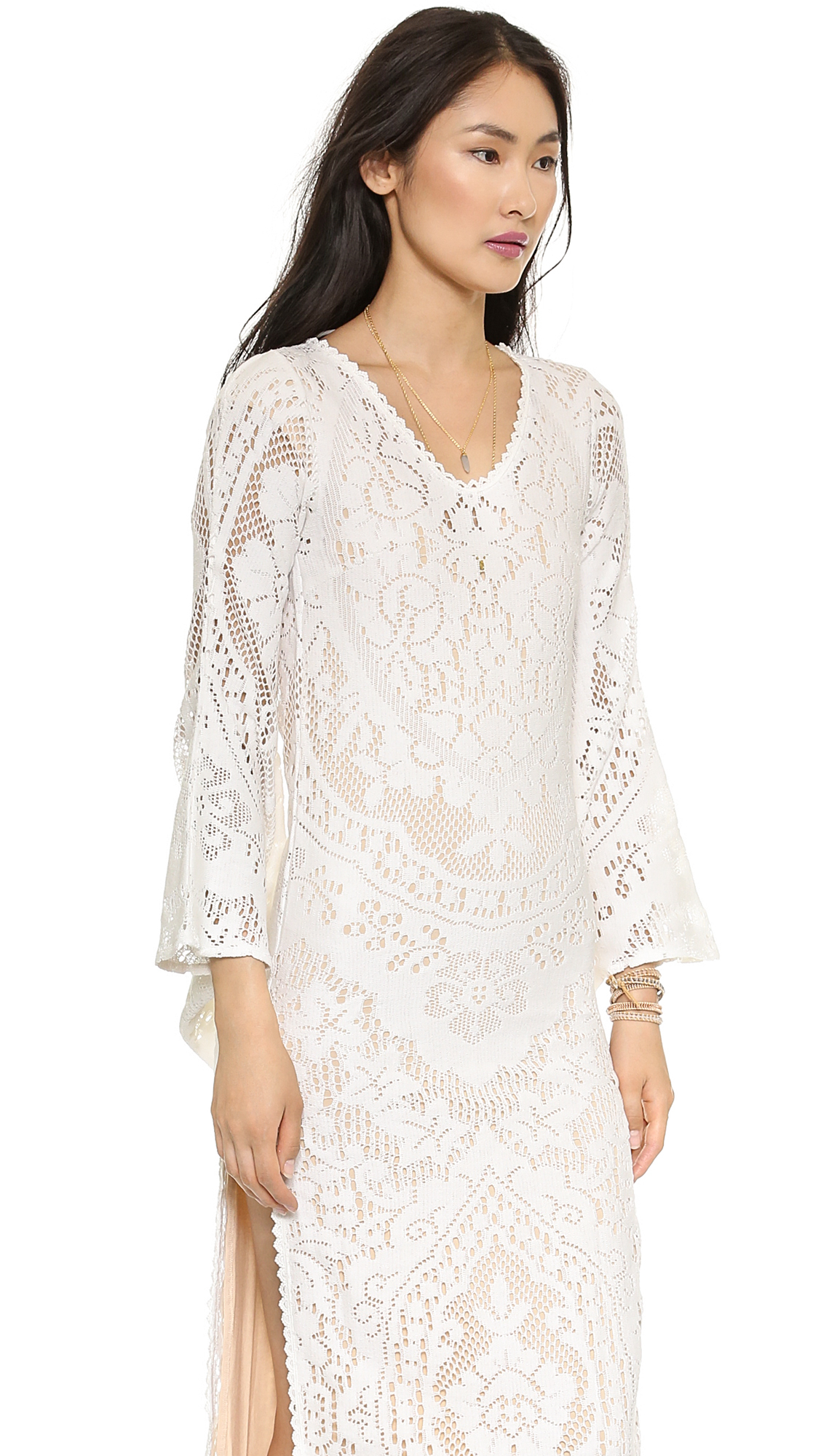 Lyst Spell White Dove Vintage Lace Maxi Dress White In