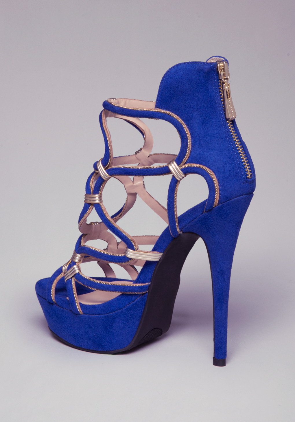 f1a1cb2566c Lyst - Bebe Charmaine Strappy Sandals in Blue