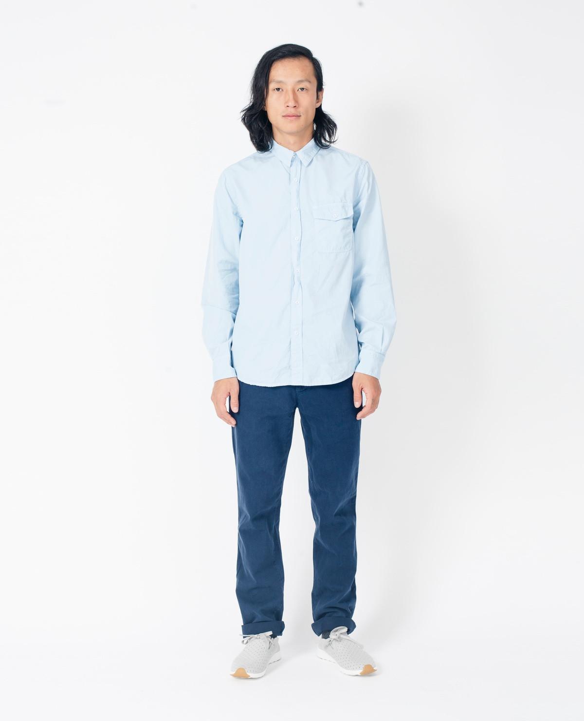 Save khaki Poplin Work Shirt / Surf in Blue for Men