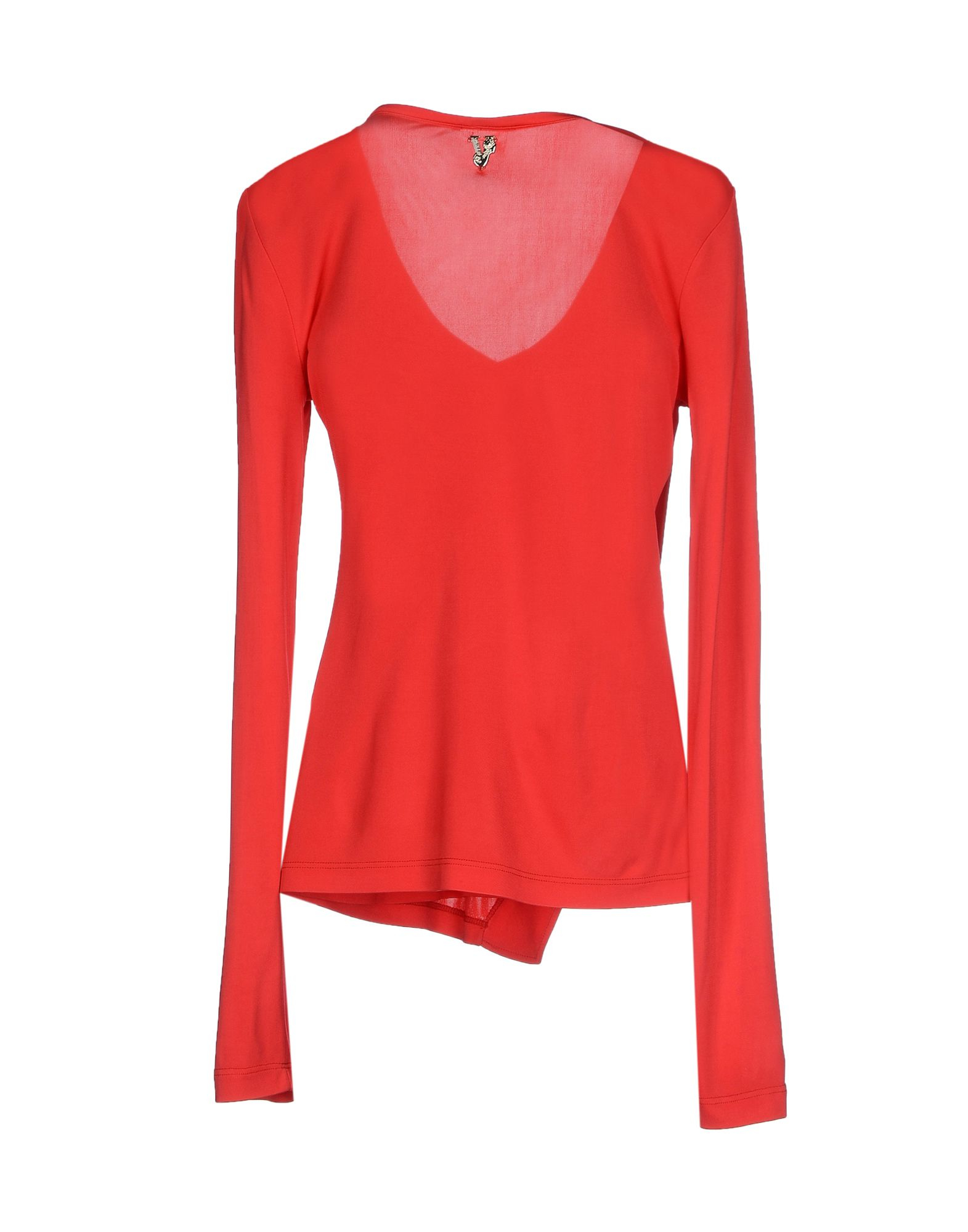 Lyst versace jeans t shirt in red for Versace t shirts women