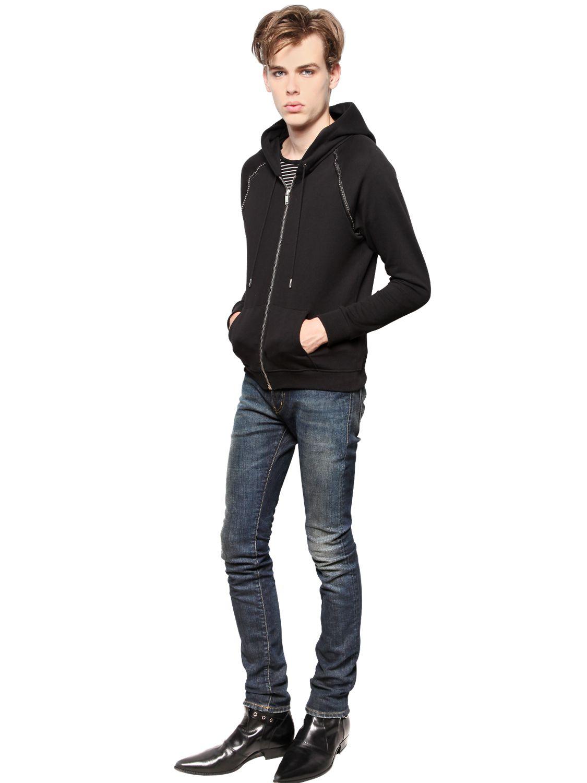 cee807adb44 Saint Laurent 15.5Cm Skinny Stretch Cotton Denim Jeans in Blue for ...