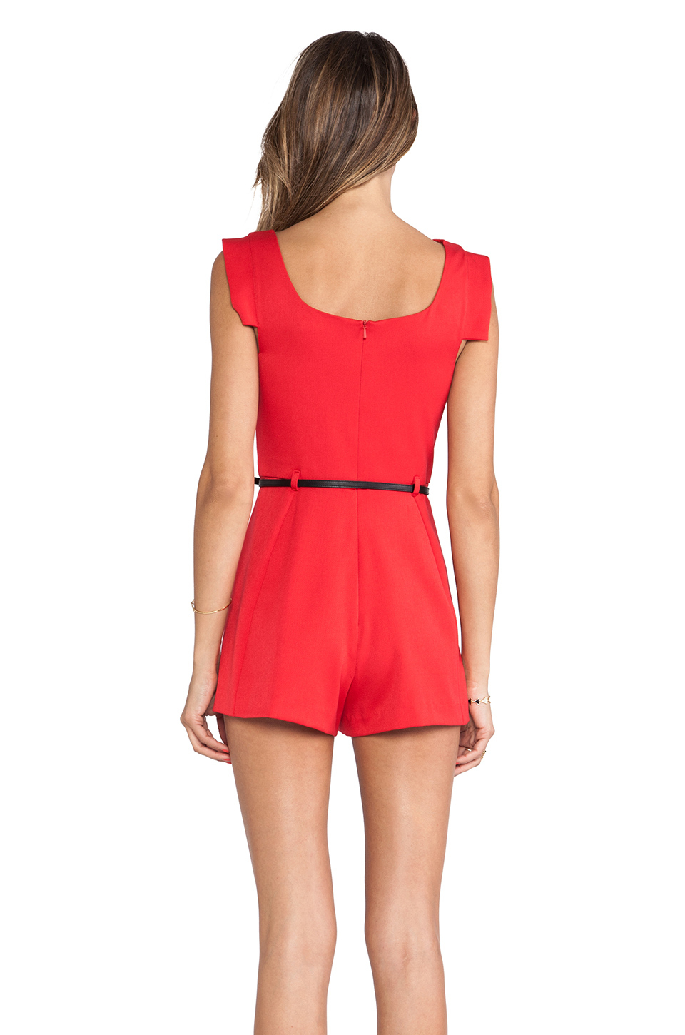 4561bc5a71f Lyst - Black Halo X Revolve Jackie O Romper in Red