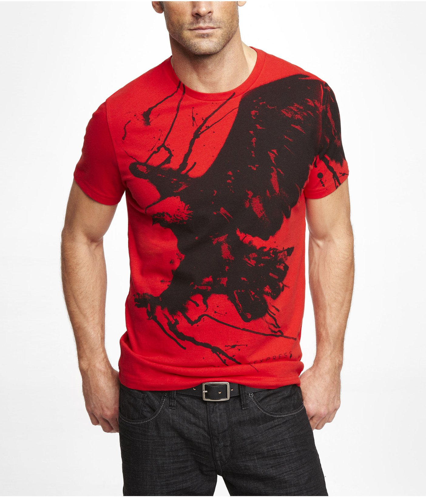 2d76209e Express Graphic Tee Eagle and Lightning in Red for Men - Lyst