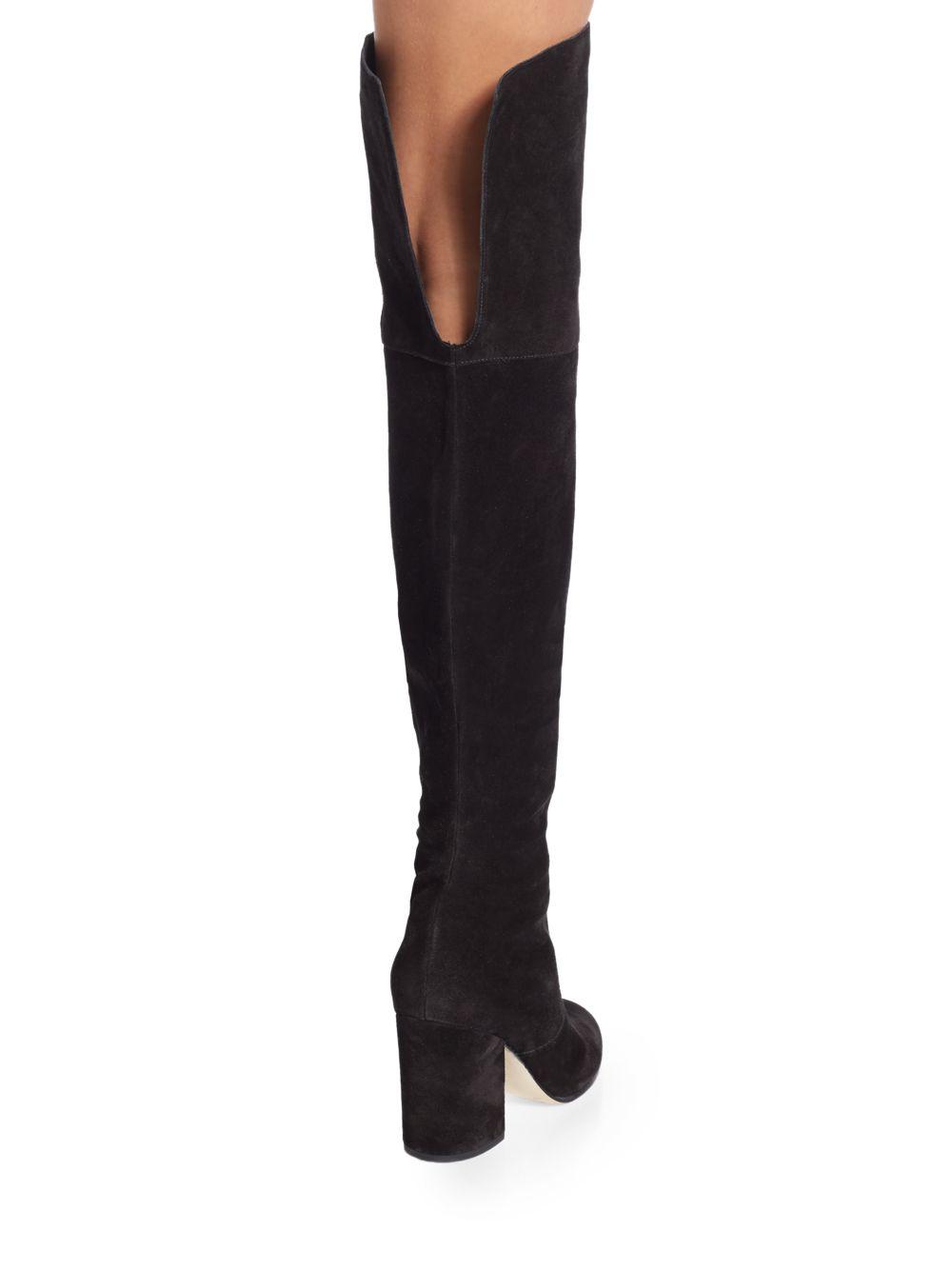 Via Spiga Womens Black Boots Leather Beline