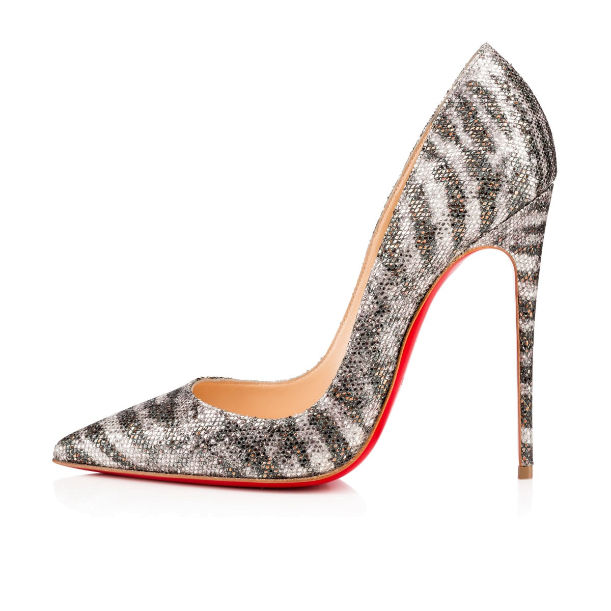Christian louboutin so kate in silver lyst