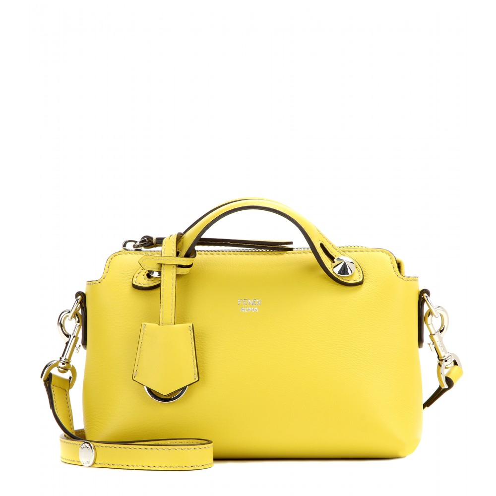 850eb6e9d7b4 ... wholesale fendi by the way mini leather bag in yellow lyst 60898 d3b68