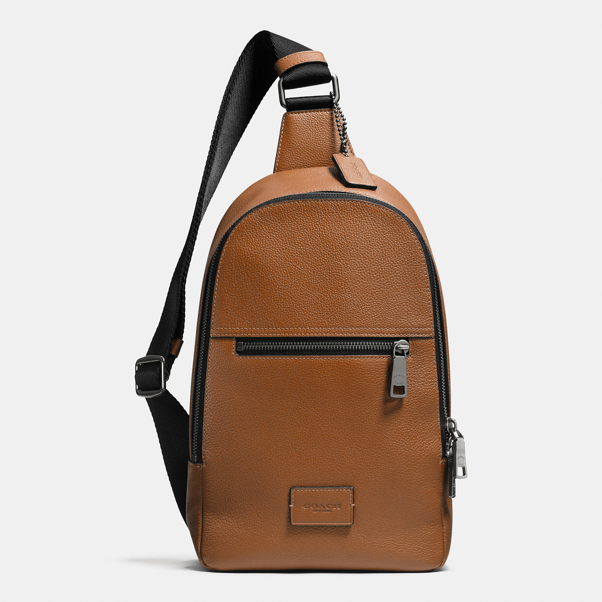 46826d4b7e38 Lyst - COACH Campus Pack In Pebble Leather in Brown for Men