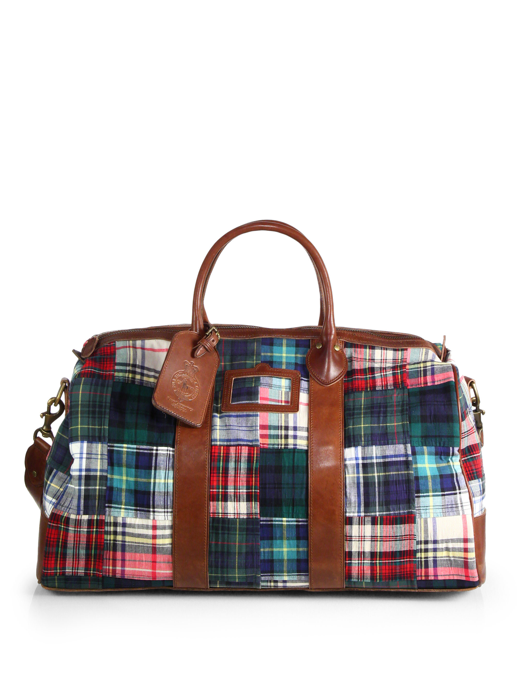 Lyst - Polo Ralph Lauren Cotton Madras Duffel Bag for Men fb8b4eda75