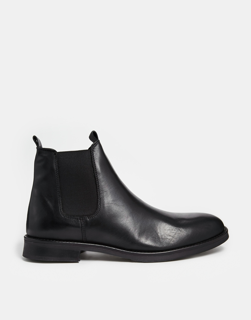 lyst selected chelsea boots black in black for men. Black Bedroom Furniture Sets. Home Design Ideas