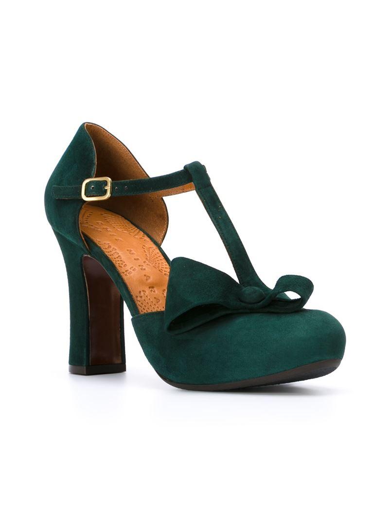 platorm heel pumps - Green Chie Mihara 5XEKMs