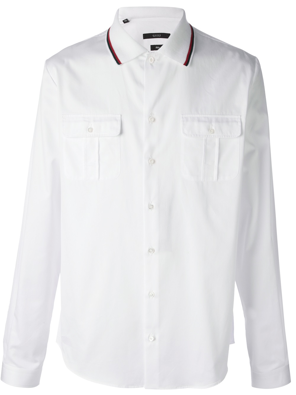 Gucci Collared Shirt In White For Men Lyst