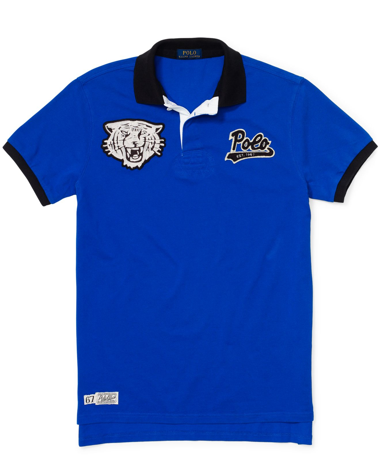 e79b21d2e ... order australia lyst polo ralph lauren custom fit tiger head polo in  blue for men 7c470