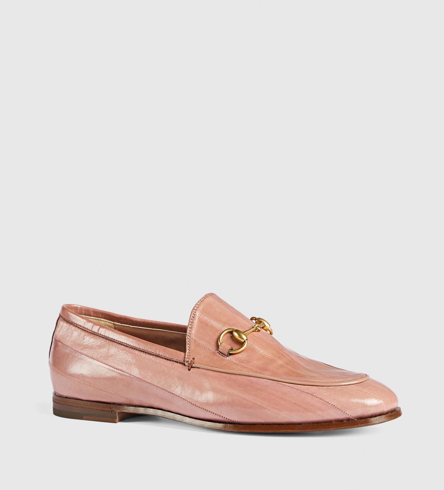 Lyst - Gucci Jordaan Eel Loafer in Pink