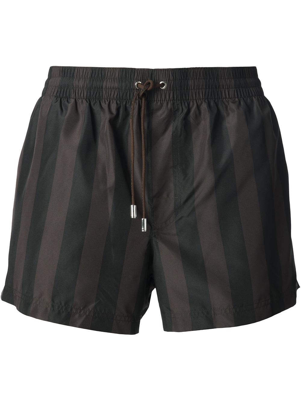fe24c7f20e Dolce & Gabbana Striped Swim Shorts in Black for Men - Lyst