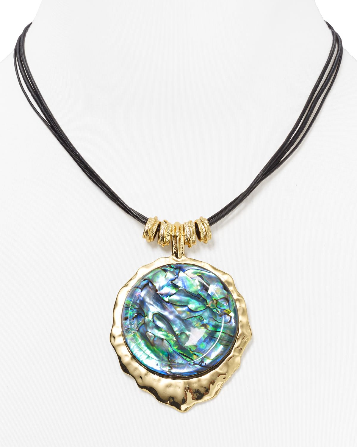 Lyst Robert Lee Morris Abalone Pendant Necklace 16 In Blue