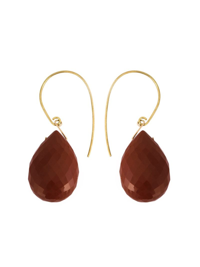 uzerai edits 18kt yellow gold bronze agate earrings in