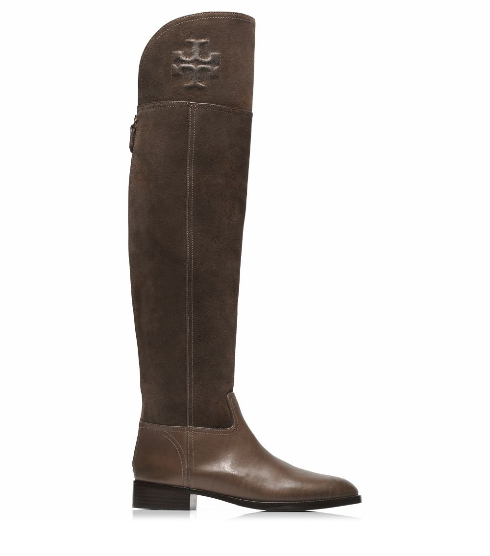 6d54f9fbd Tory Burch Simone Over-The-Knee Boot in Brown - Lyst