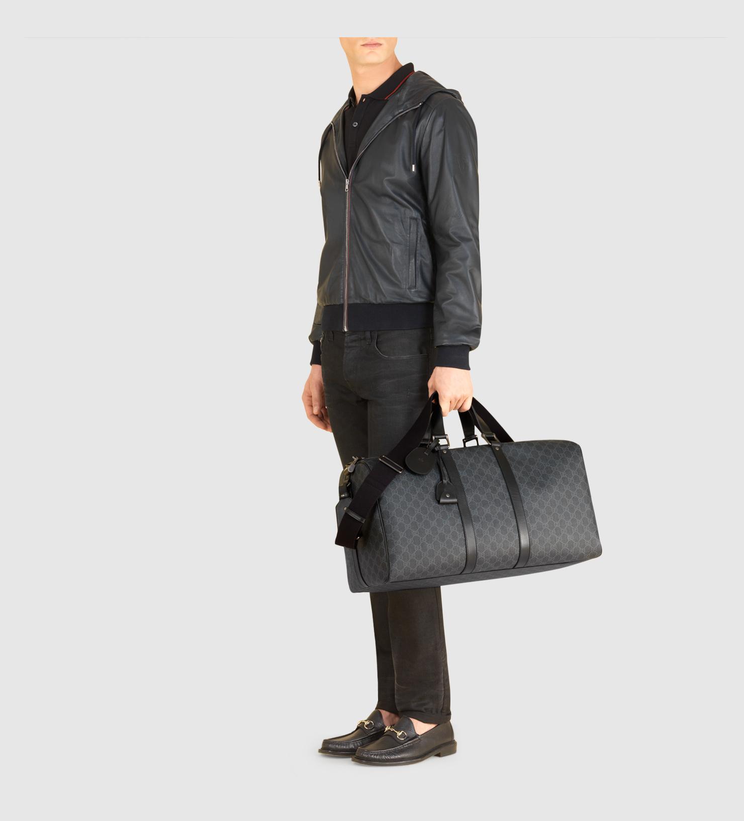 25aed88da Duffle Bags Black Gucci Night Courrier Soft Gg Supreme Carry On Gucci 2way Duffel  Bag Black Techno Canvas ...