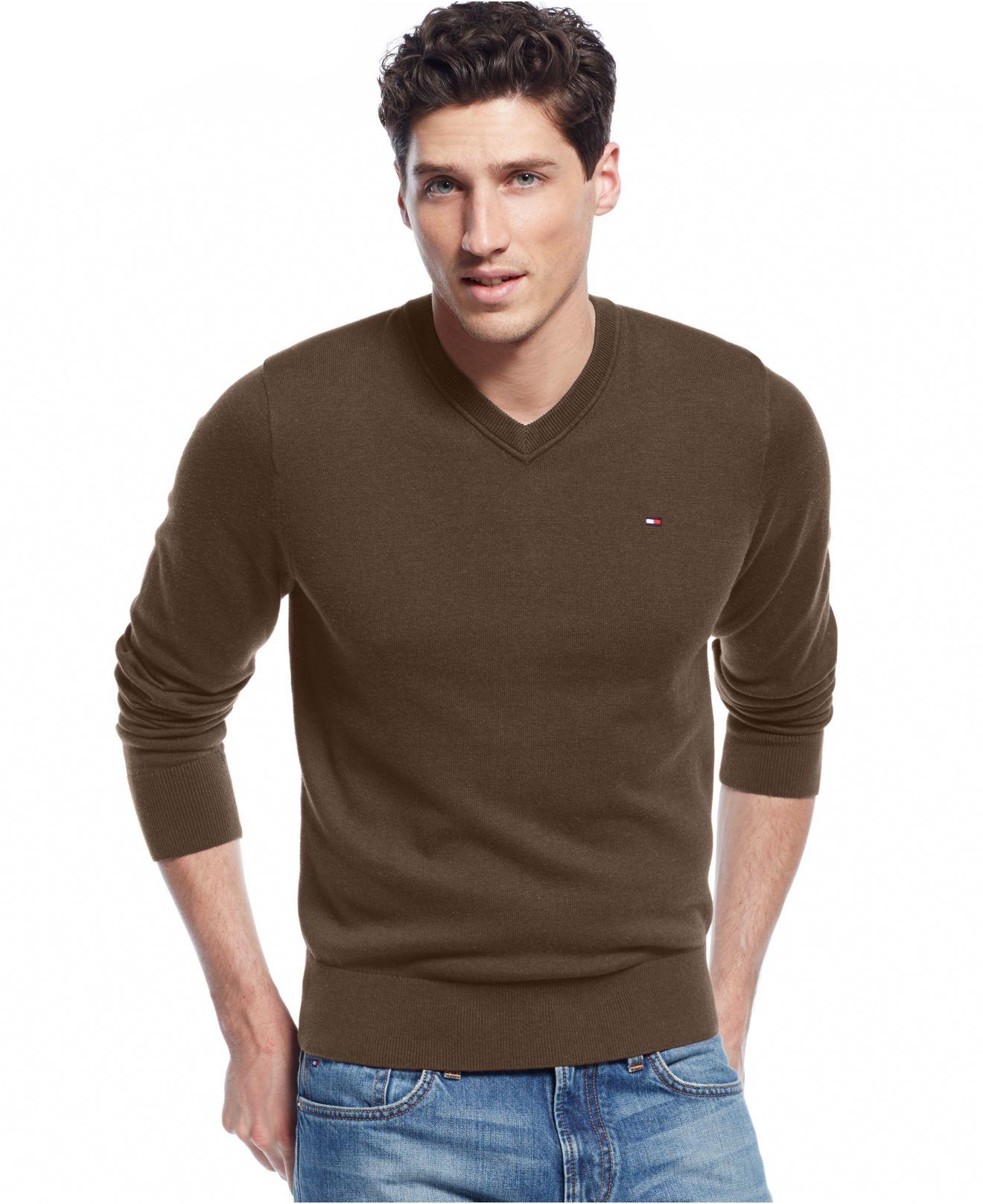 tommy hilfiger big tall signature solid v neck sweater. Black Bedroom Furniture Sets. Home Design Ideas