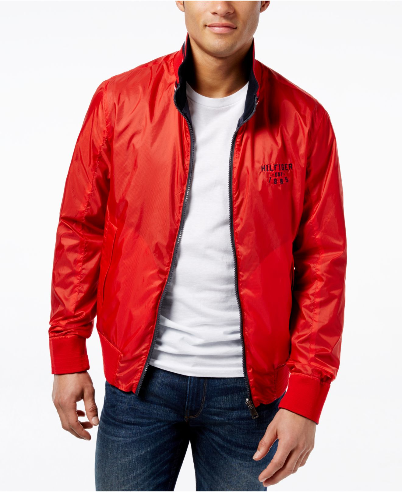 Tommy hilfiger Men's Cromwell Reversible Lightweight Jacket in Red ...