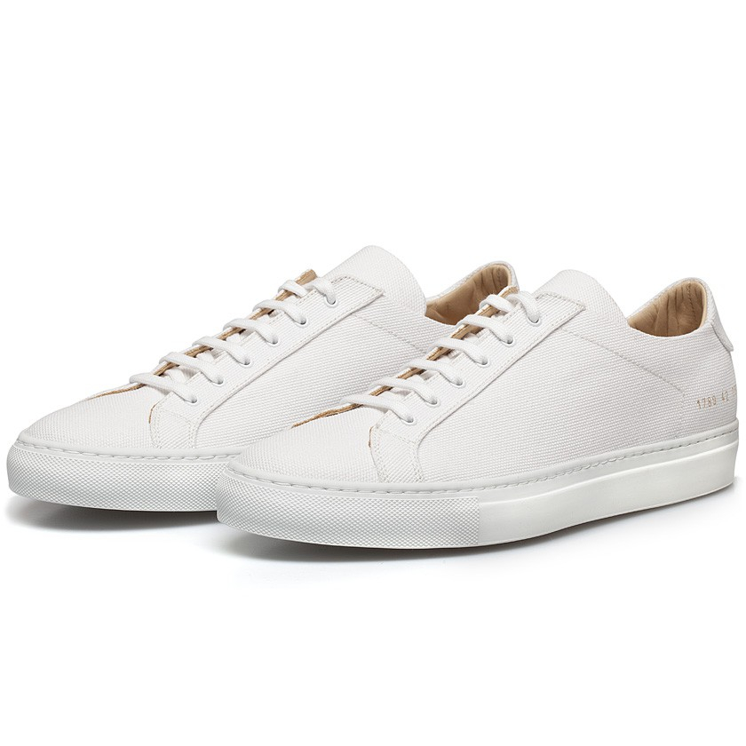 Common projects White Premium Canvas Achilles Low Sneakers in White for Men | Lyst