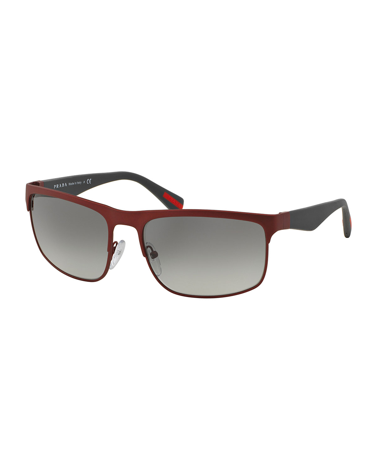 Prada Red Frame Glasses : Prada Wire-frame Rectangular Sunglasses in Red for Men Lyst
