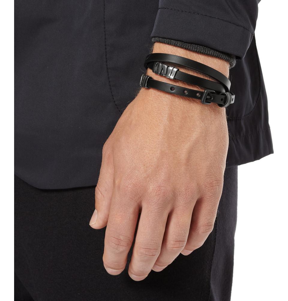 Bottega Veneta Leather And Oxidised Sterling Silver Wrap