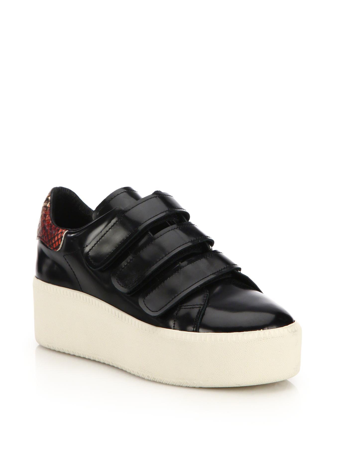 Ash Cool Leather Platform Sneakers In Black Lyst