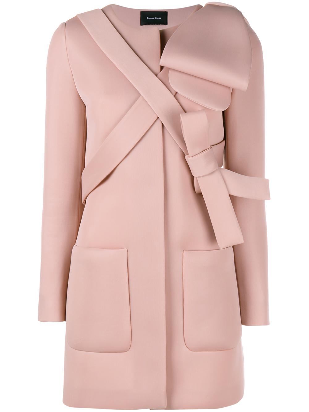 Simone rocha Neoprene Bow Coat in Pink   Lyst