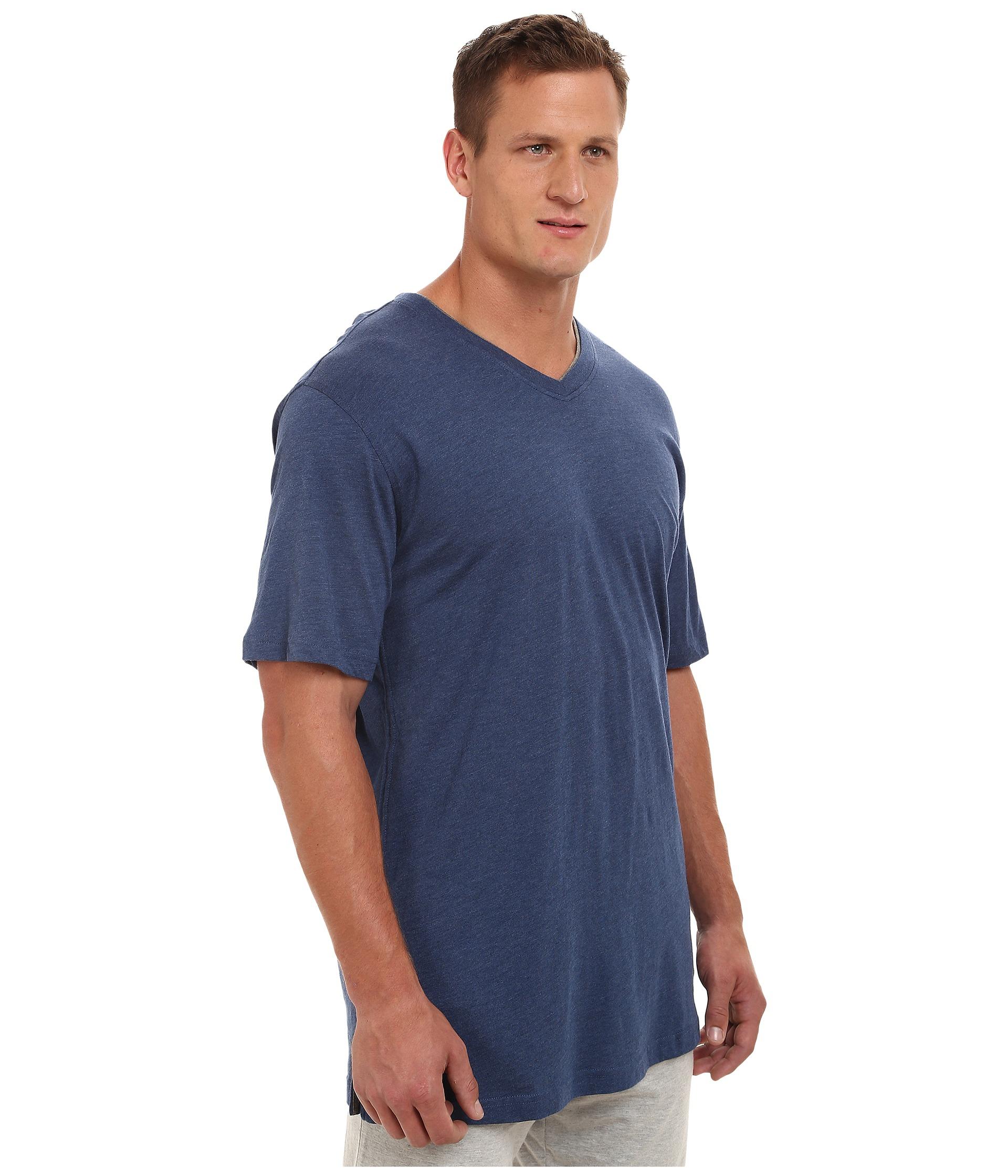 Tommy bahama big tall heather cotton modal jersey knit v for Custom tommy bahama shirts