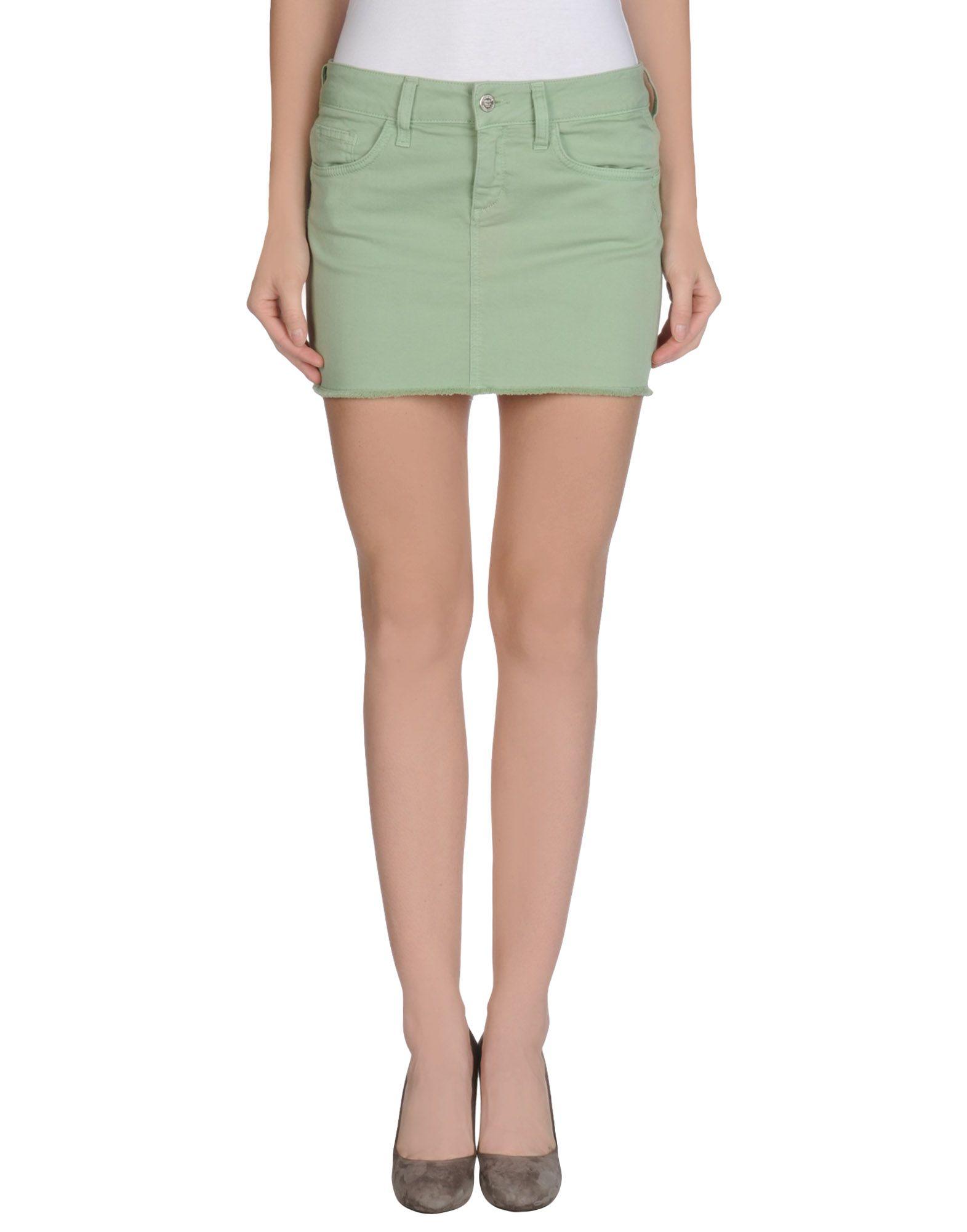 liu jo mini skirt in green lyst