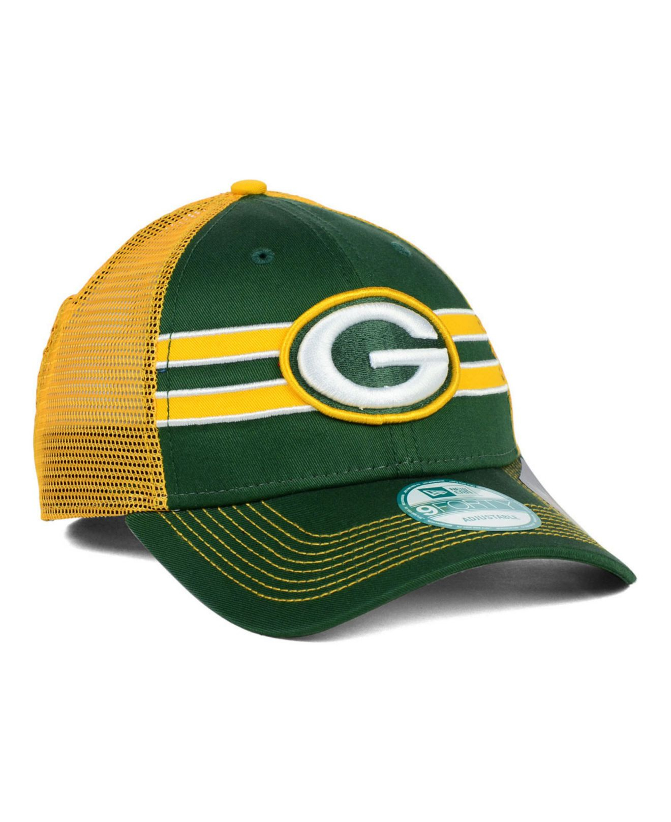 ... Hats Beanies Sideline Caps Snapbacks. Gallery. Lyst Ktz Green Bay  Packers Frontband Trucker 9forty Cap In Yellow. New Era ... 238ea899a423