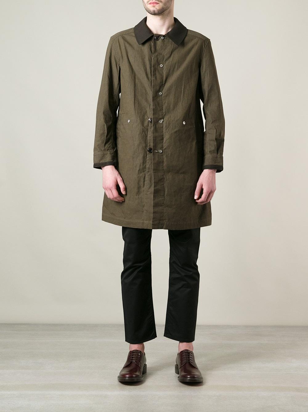 Junya watanabe Mens Field Coat in Green for Men | Lyst