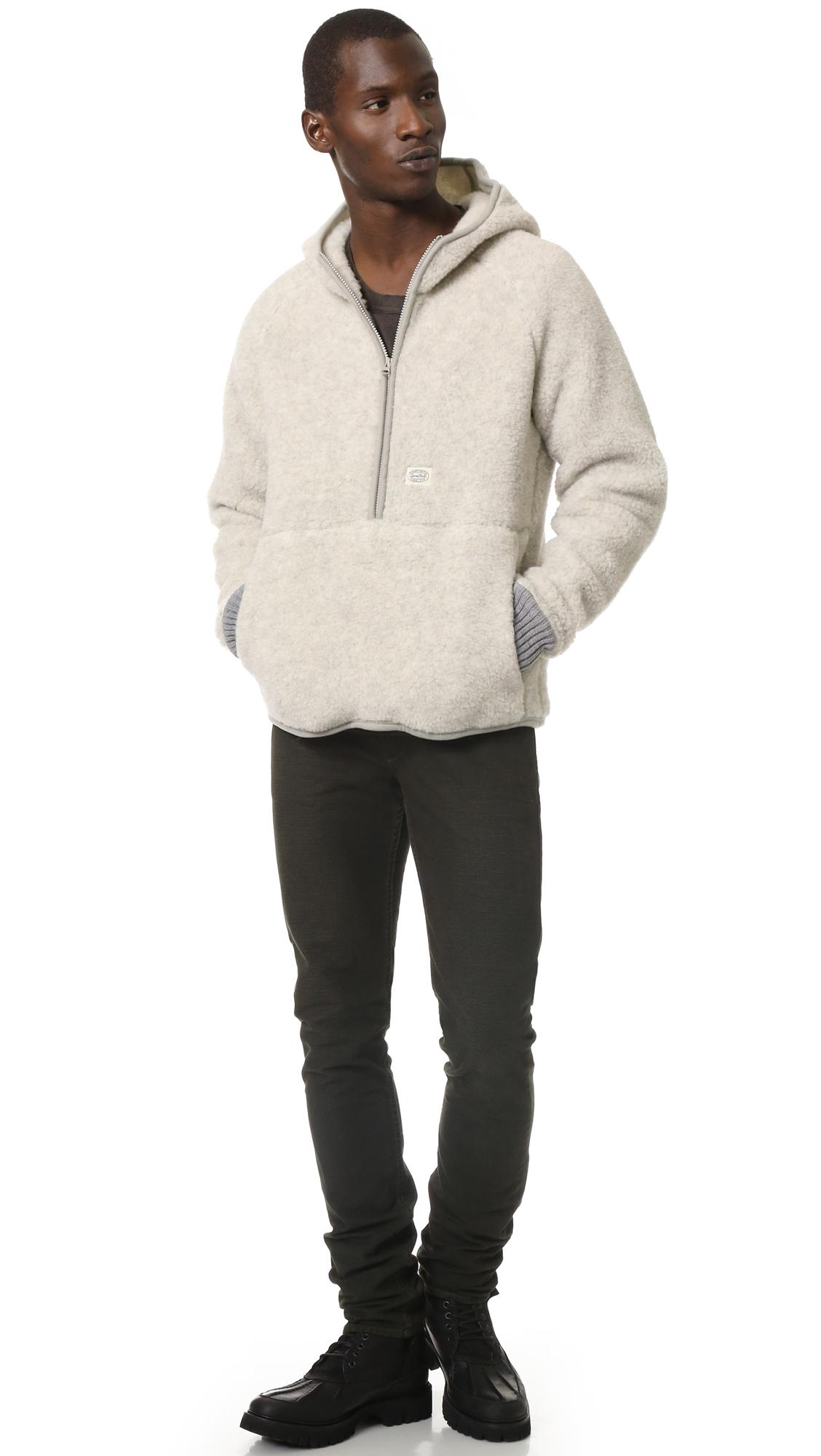 Snow peak Wool Fleece Pullover in Natural for Men | Lyst