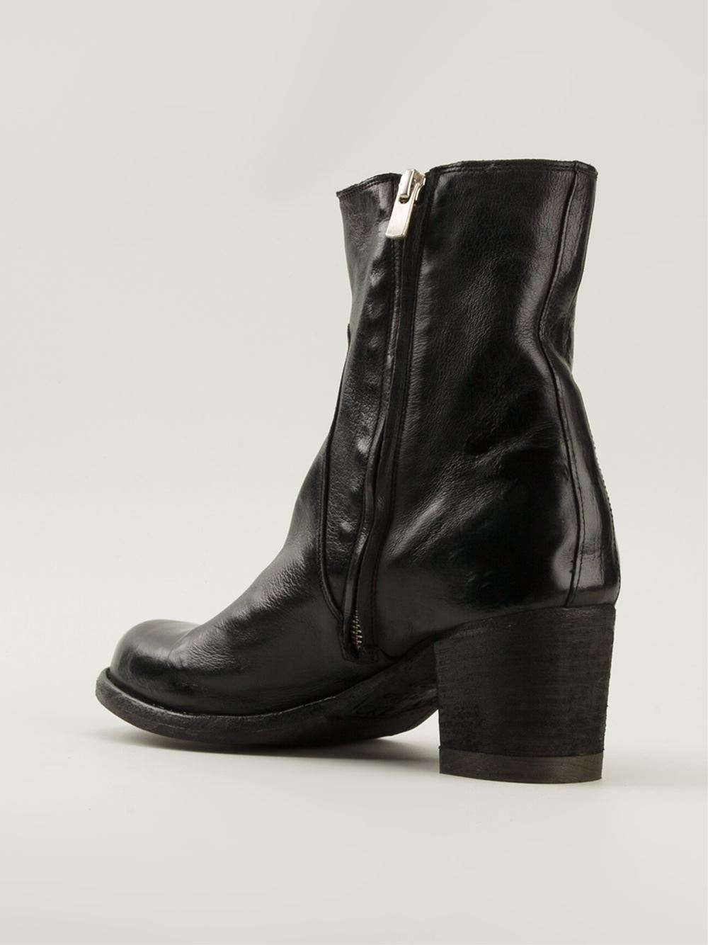 Lyst Officine Creative Varda Ankle Boots In Black