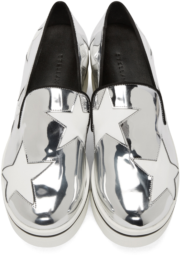 131a42df1d1 Lyst - Stella McCartney Silver Star Platform Binx Sneakers in Metallic