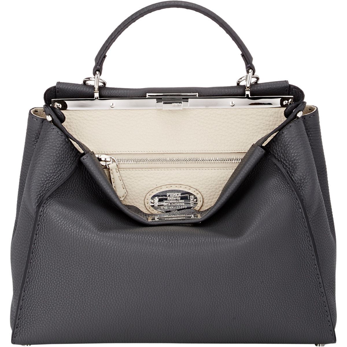 7f802b101f Lyst - Fendi Selleria Peekaboo Large Satchel in Black