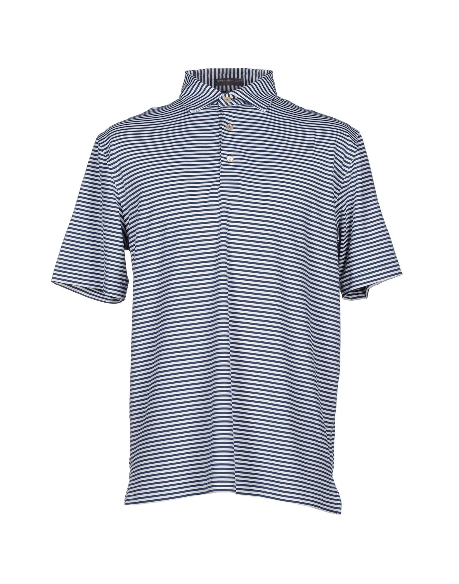 Peter millar polo shirt in blue for men lyst for Peter millar polo shirts