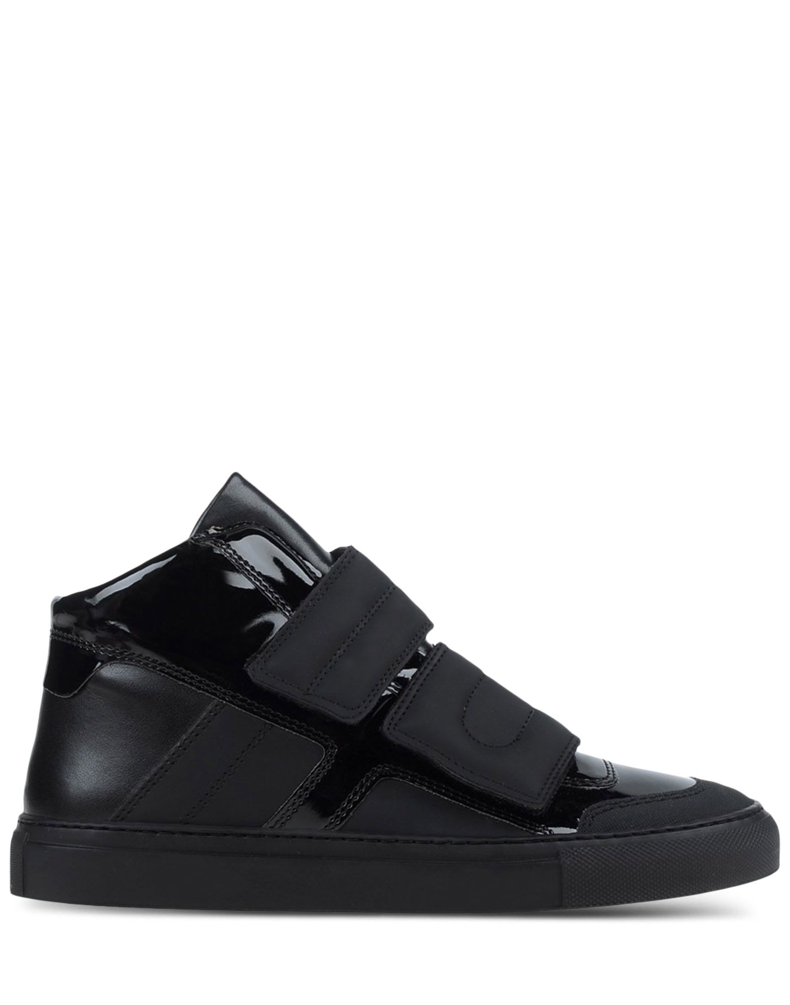 Mm6 by maison martin margiela black leather mid top for Mm6 maison margiela
