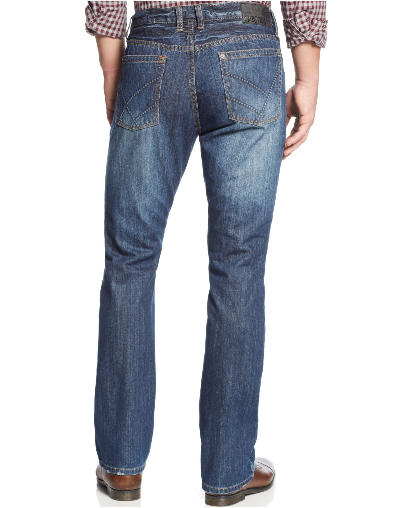 Kenneth cole reaction Indigo Bootcut Jeans in Blue for Men | Lyst