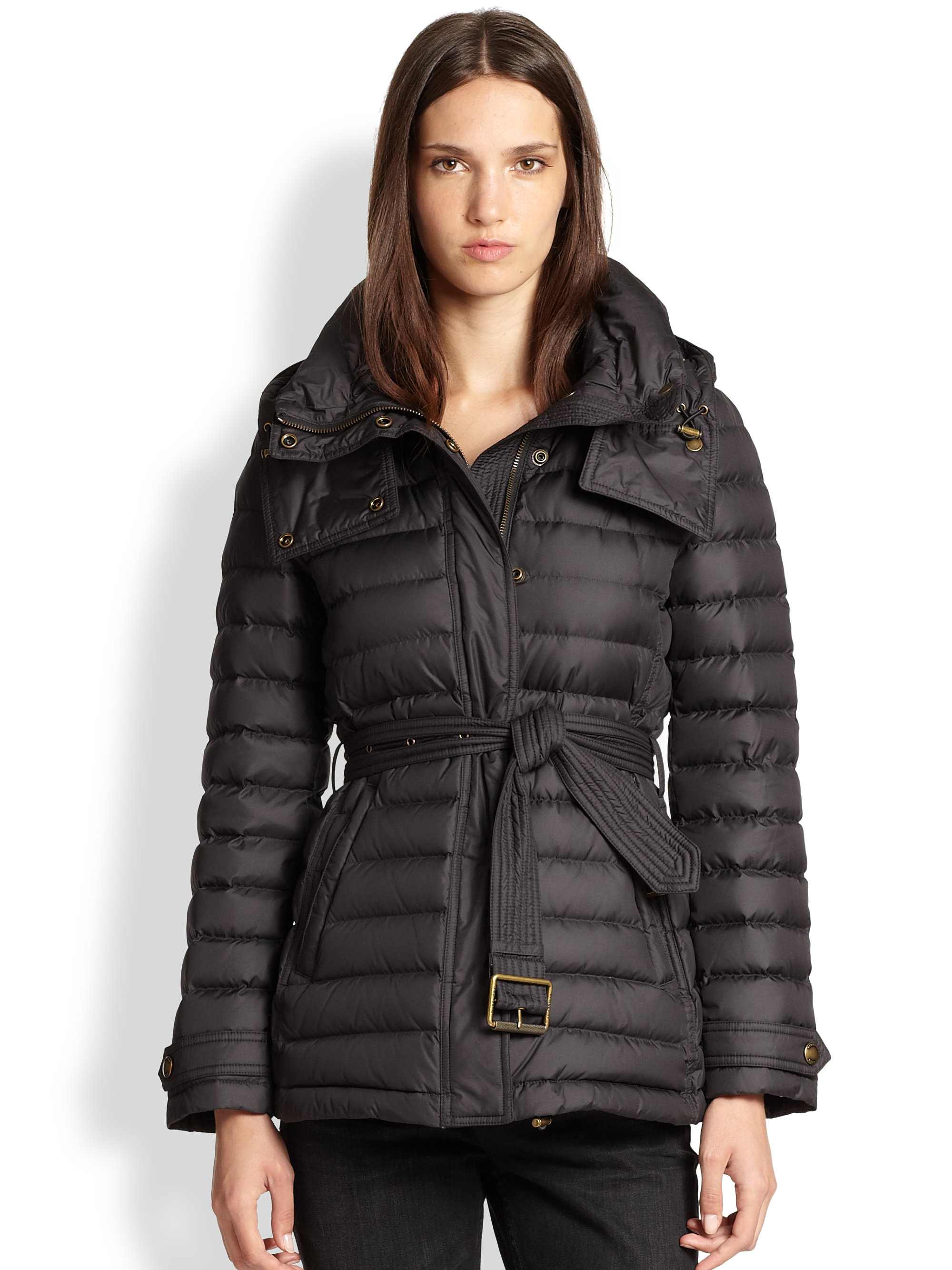 Burberry Brit Cornsdale Puffer Coat In Black Lyst