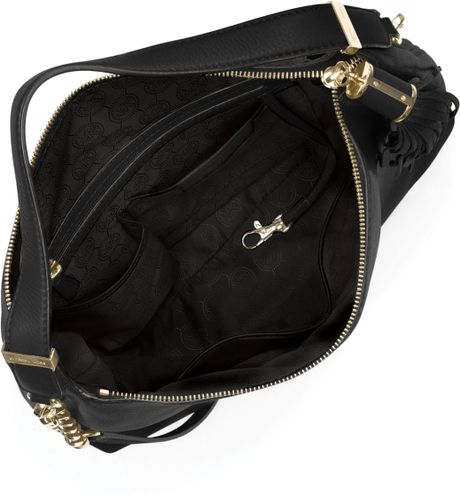 Medium Weston Pebbled Shoulder Bag 15