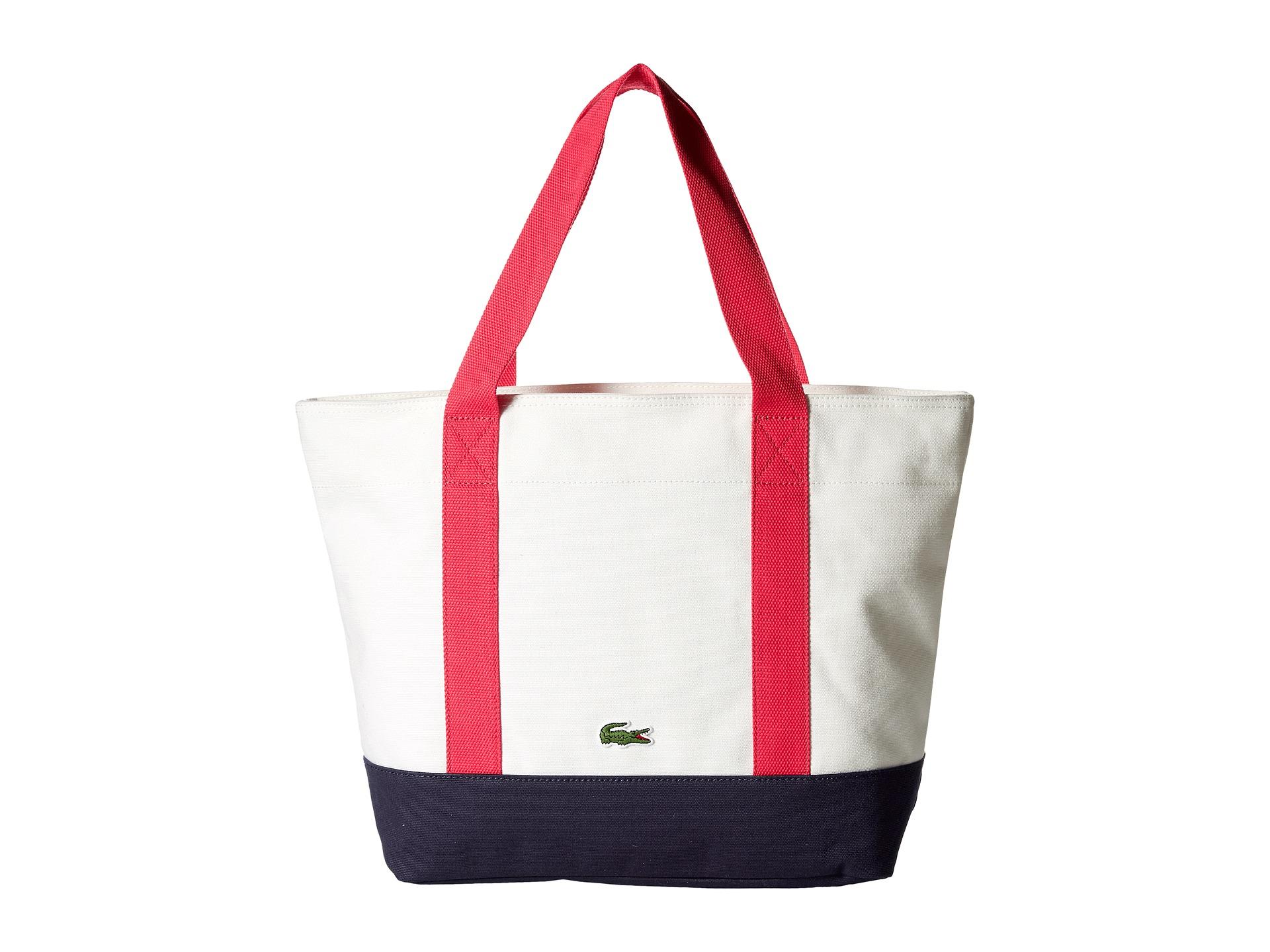 39d5b160fa3176 Lyst - Lacoste Medium Shopping Bag in White