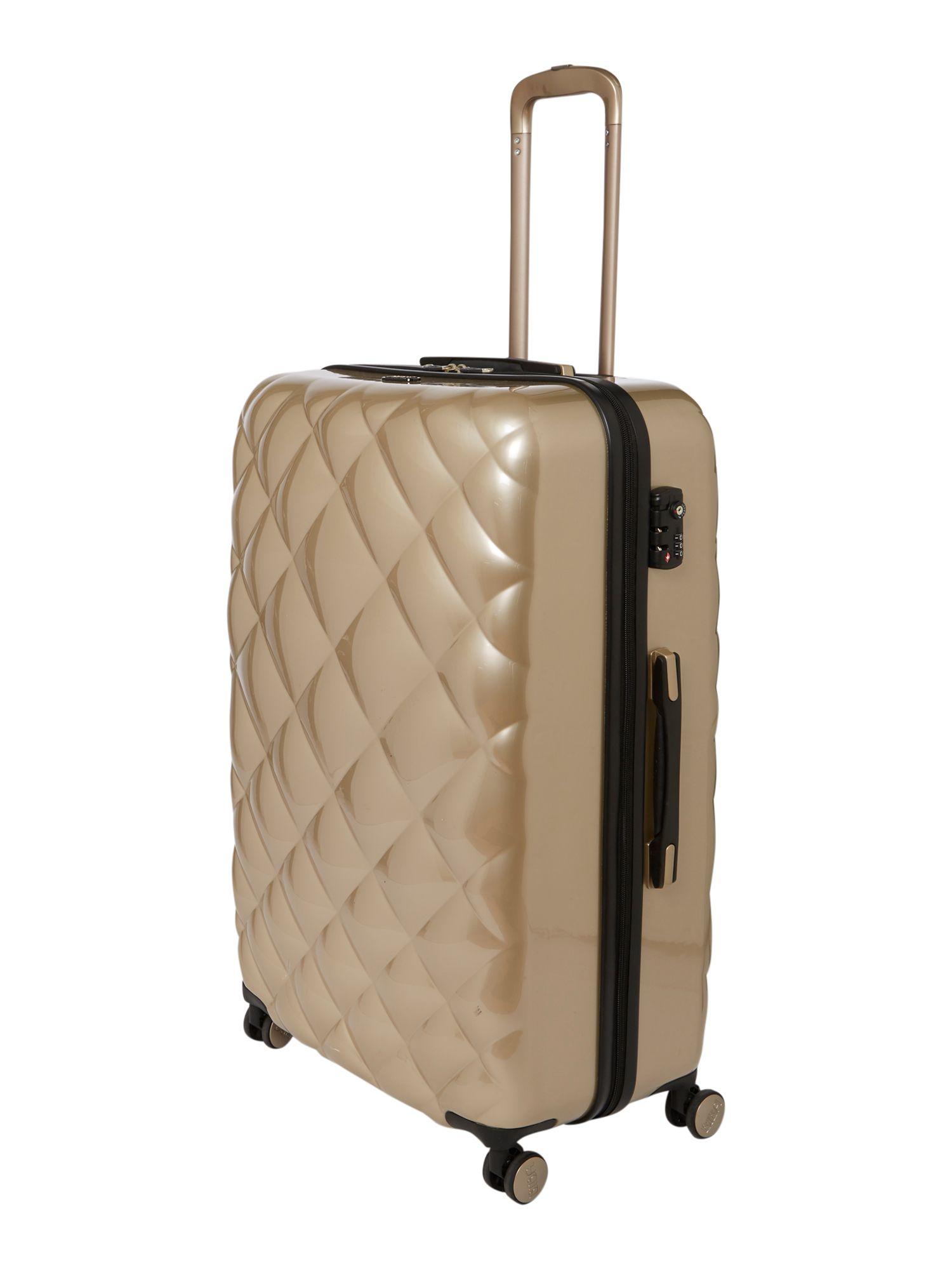 Biba Diamond Quilt Gold 8 Wheel Hard Large Suitcase in Metallic | Lyst