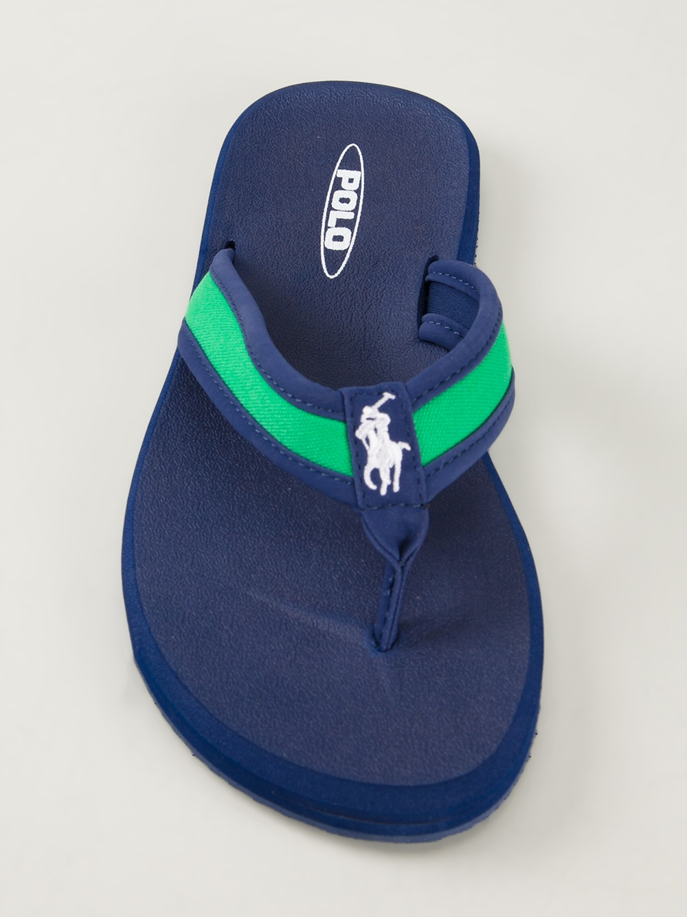 55a013224dc8f7 Lyst - Polo Ralph Lauren Almer Flip Flops in Green for Men