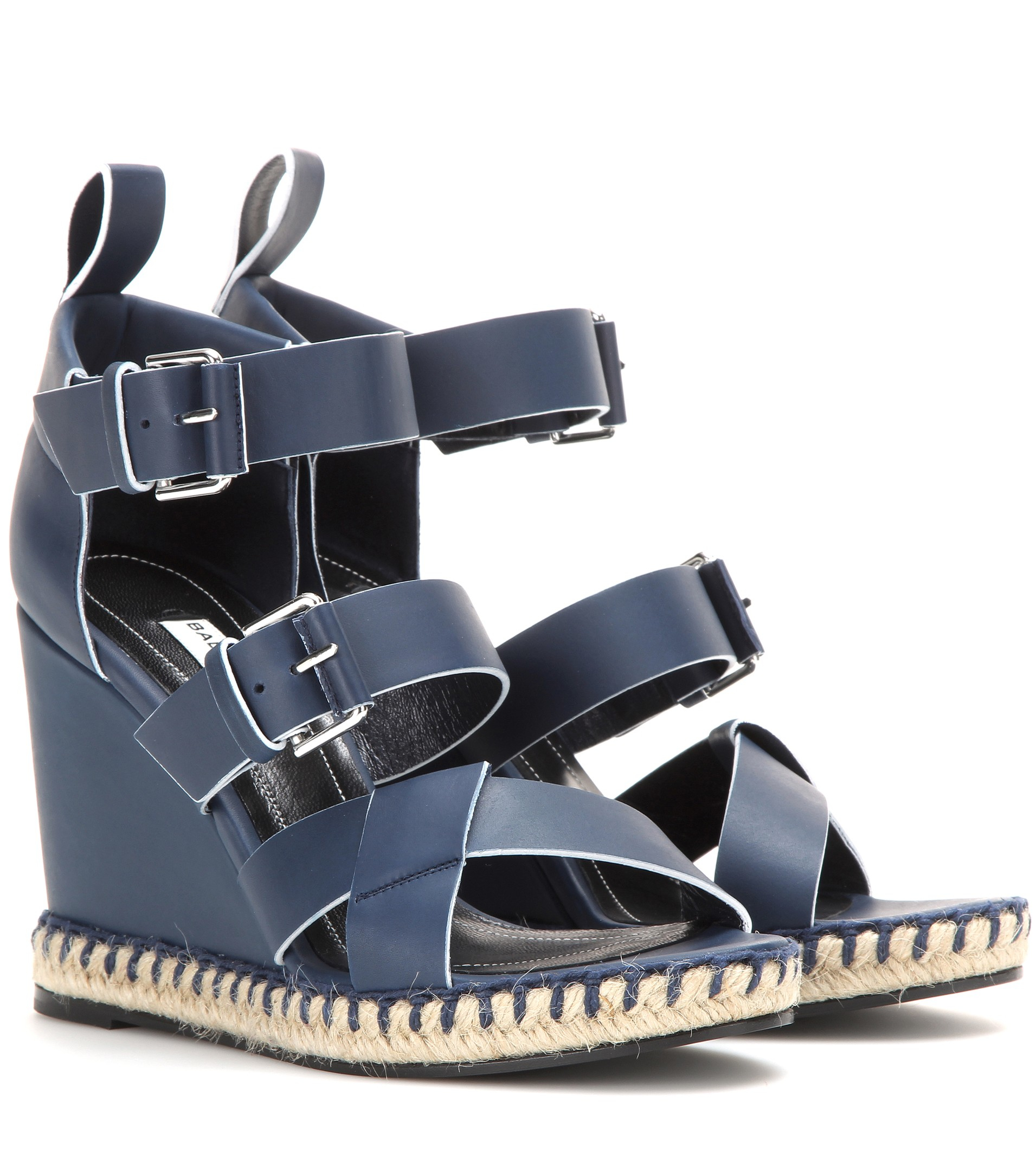 Balenciaga Buckle Accented Leather Sandals with mastercard sale online for sale finishline sale 100% authentic cheap sale pick a best free shipping 100% guaranteed 1xBBI7Hf