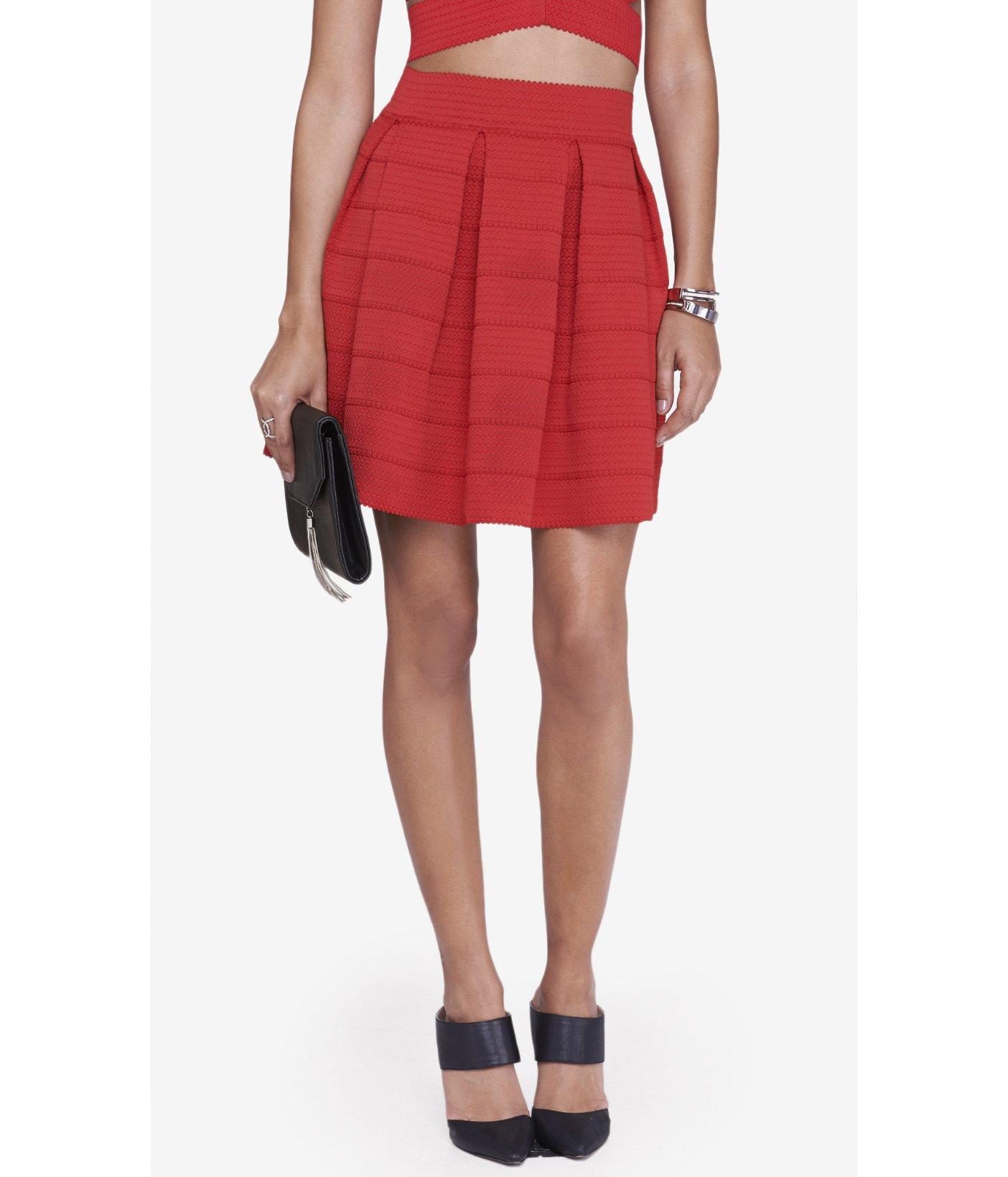 express high waist elastic skirt lyst